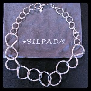 Silpada Large link necklace. Retired